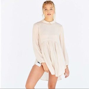 UO Cooperative beige long sleeve tunic blouse